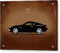The Aston Martin Db7 Acrylic Print by Mark Rogan