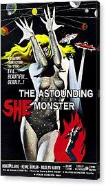 The Astounding She-monster, 1-sheet Acrylic Print by Everett