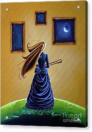 The Astronomer Acrylic Print by Cindy Thornton