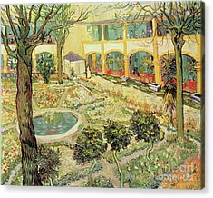 The Asylum Garden At Arles Acrylic Print by Vincent van Gogh