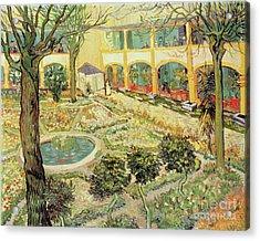 The Asylum Garden At Arles Acrylic Print by Vincent van Gogh