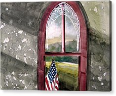 Acrylic Print featuring the painting The Attic Window by John Williams
