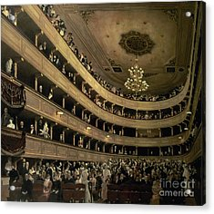 The Auditorium Of The Old Castle Theatre Acrylic Print by Gustav Klimt