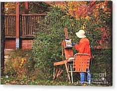 The Autumn Painter Acrylic Print