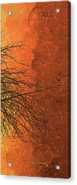 The Autumn Tree Triptych 3 Of 3 Acrylic Print by Ken Figurski