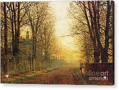 The Autumn's Golden Glory Acrylic Print by John Atkinson Grimshaw