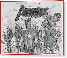 The Avengers Acrylic Print by Chris  DelVecchio