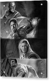 The Avengers Acrylic Print by Nat Morley