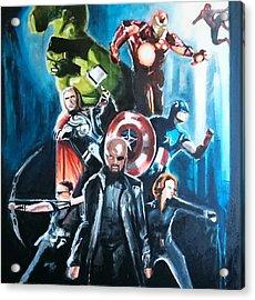 The Avengers Acrylic Print by Paul Mitchell