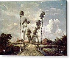 The Avenue At Middelharnis Acrylic Print by Meindert Hobbema