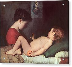 The Awakening Child Acrylic Print by Jean Jacques Henner