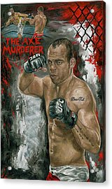 The Axe Murderer Acrylic Print by David Courson