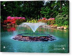 The Azalea Pond At Honor Heights Park Acrylic Print