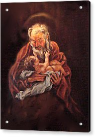 Acrylic Print featuring the painting The Baby Jesus - A Study by Donna Tucker
