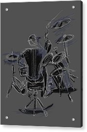 The Back Beat Acrylic Print by Russell Pierce