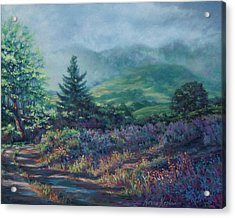 The Back Road In Acrylic Print