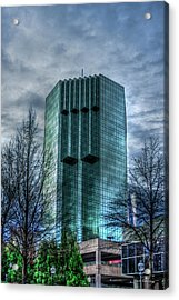 The Backyard Tower Place 100 Buckhead Atlanta Art Acrylic Print by Reid Callaway