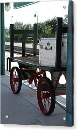 The Baggage Cart And Truck Acrylic Print by Rob Hans