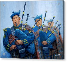 The Bagpipers Acrylic Print