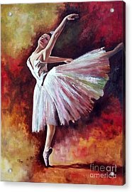 Acrylic Print featuring the painting The Dancer Tilting - Adaptation Of Degas Artwork by Rosario Piazza