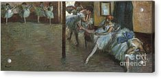 The Ballet Rehearsal, 1891 Acrylic Print by Edgar Degas