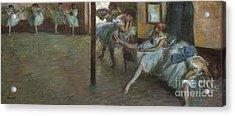 The Ballet Rehearsal, 1891 Acrylic Print