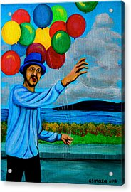 The Balloon Vendor Acrylic Print