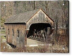 The Baltimore Covered Bridge - Springfield Vermont Usa Acrylic Print by Erin Paul Donovan