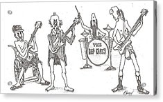 Acrylic Print featuring the drawing The Band by R  Allen Swezey