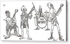 The Band Acrylic Print by R  Allen Swezey