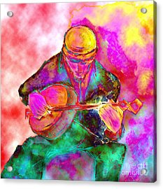 The Banjo Player Acrylic Print
