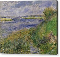 The Banks Of The Seine Champrosay Acrylic Print by Pierre Auguste Renoir