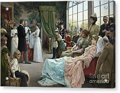The Baptism, 1892 Acrylic Print by Julius Leblanc Stewart