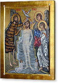 The Baptism Of Christ Acrylic Print by Filip Mihail