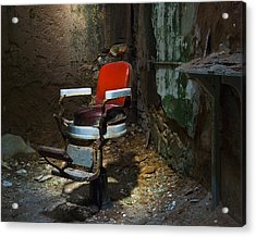 The Barber Chair Acrylic Print by Eric Harbaugh