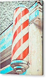 The Barber Acrylic Print by Tom Gowanlock