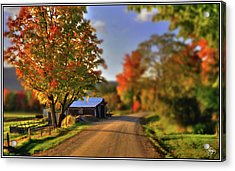 Acrylic Print featuring the photograph The Barn At The Bend by Wayne King
