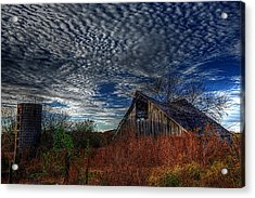 The Barn At Twilight Acrylic Print