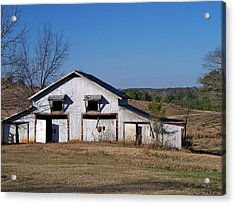 Acrylic Print featuring the photograph The Barn by Betty Northcutt