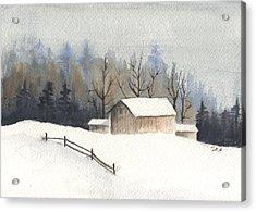 The Barn Acrylic Print by Jan Anderson