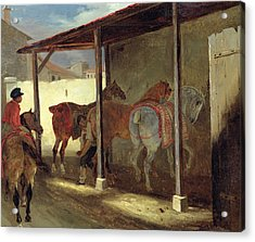 The Barn Of Marechal-ferrant Acrylic Print by Theodore Gericault