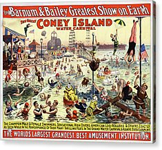 The Barnum And Bailey Greatest Show On Earth The Great Coney Island Water Carnival Acrylic Print by Carsten Reisinger