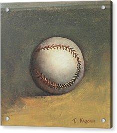 The Baseball Acrylic Print by Teri Vaughn