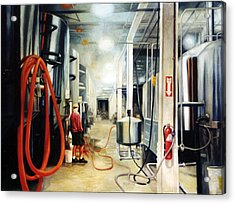 The Bashful Brewer Acrylic Print by Gregg Hinlicky