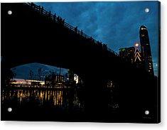 The Bat Bridge Austin Texas Acrylic Print by Betsy Knapp
