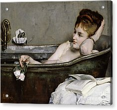 The Bath Acrylic Print by Alfred George Stevens
