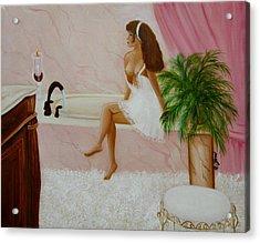 The Bath Acrylic Print by Joni McPherson