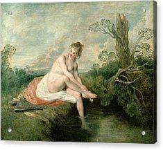 The Bath Of Diana Acrylic Print by Jean Antoine Watteau