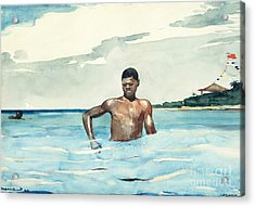 The Bather, 1899 Acrylic Print by Winslow Homer