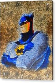 The Batman - Da Acrylic Print by Leonardo Digenio